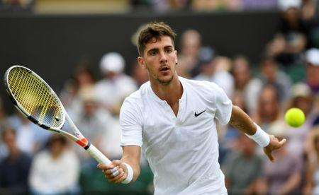 Tennis - Wimbledon - London, Britain - July 4, 2017 Australia's Thanasi Kokkinakis in action during his first round match against Argentina's Juan Martin Del Potro REUTERS/Tony O'Brien