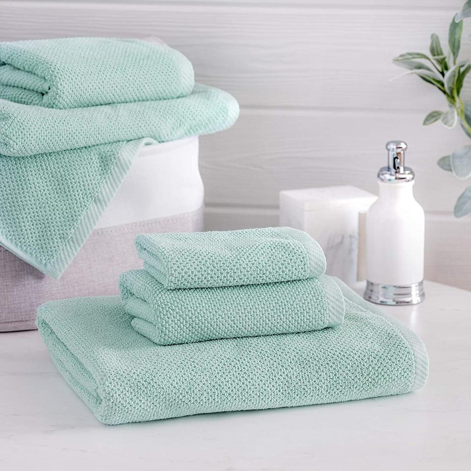 Welhome Franklin Premium 100% Cotton 6 Piece Towel Set - Amazon.