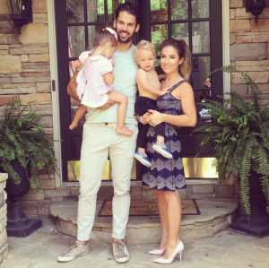 Eric Decker (left) with Vivianne, Eric Thomas II and Jessie James Decker