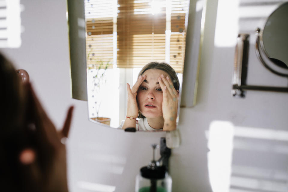 Are video calls causing us to self-scrutinise? (Posed by model, Getty Images)