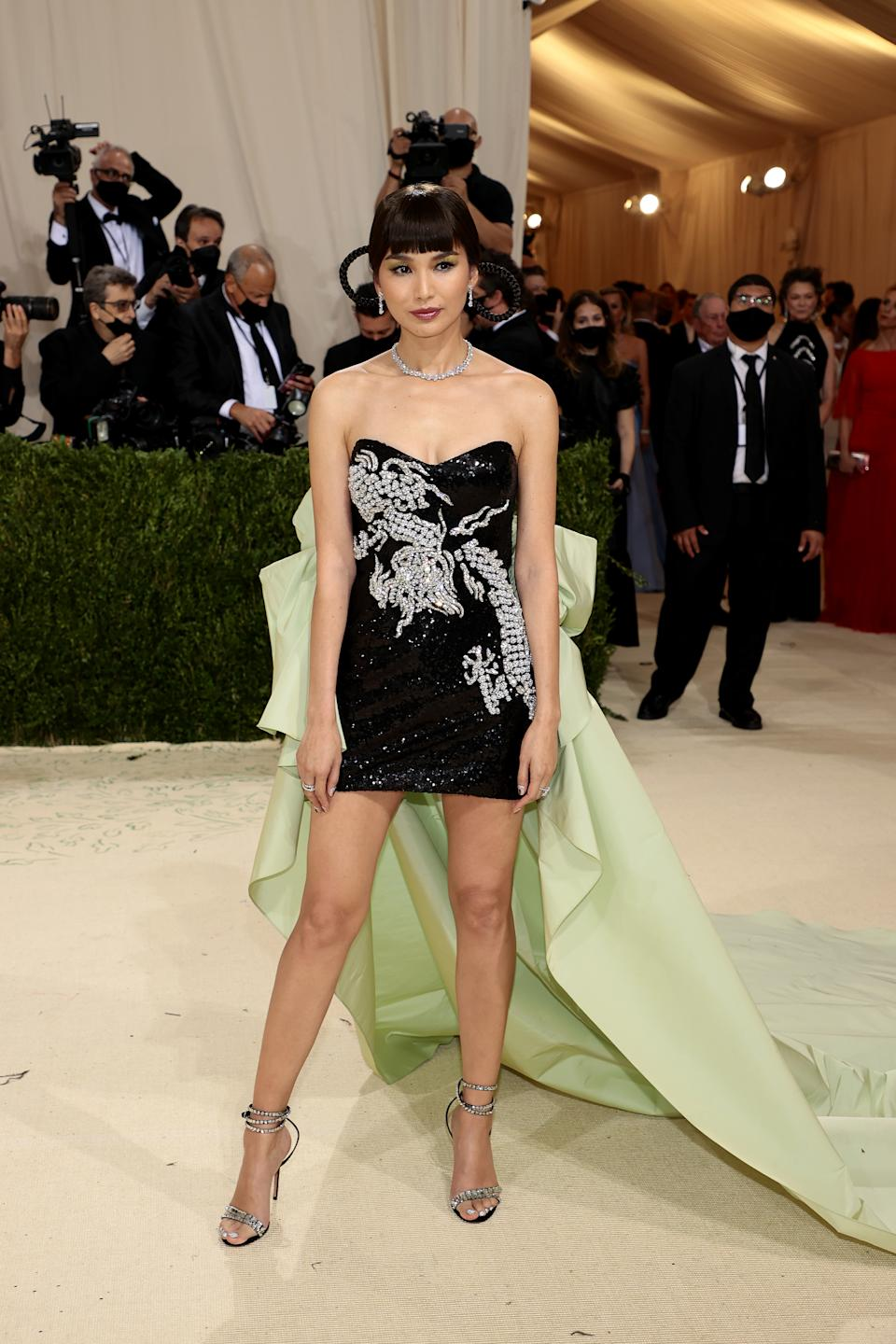 Gemma Chan attends The 2021 Met Gala Celebrating In America: A Lexicon Of Fashion at Metropolitan Museum of Art on September 13, 2021 in New York City. (Getty Images)