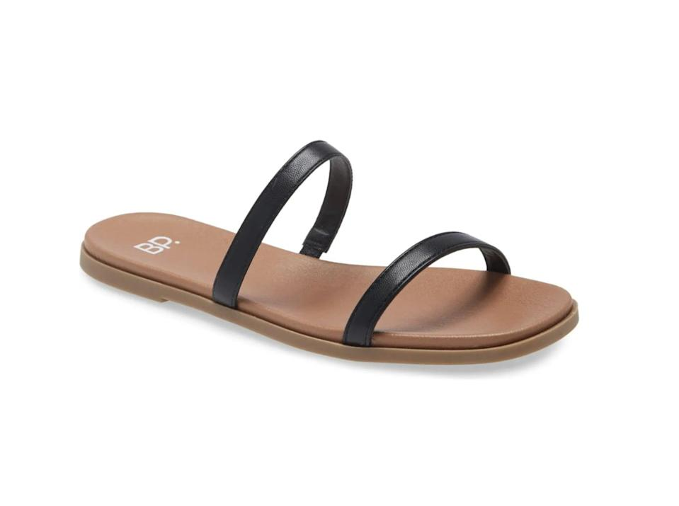 <p>These <span>BP. Sage Slide Sandals</span> ($30 - $40) will become your go-to, because they are so versatile.</p>