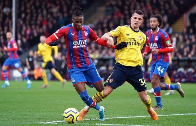 Palace and Arsenal drew 1-1 at Selhurst Park in January 2020 (Tess Derry/PA)