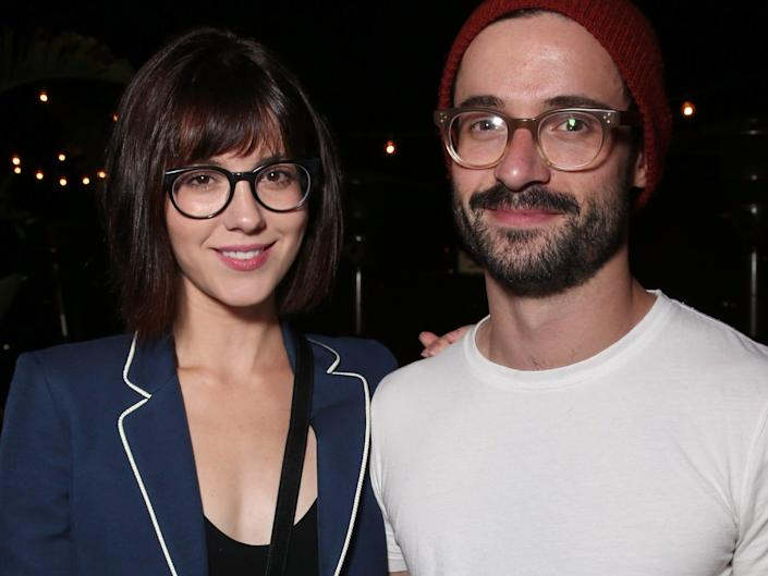 Mary Elizabeth Winstead and Riley Stearns in Los Angeles in October 2016.