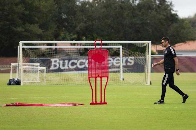 Inter Miami coach Diego Alonso says the involvement of co-owner David Beckham influenced his move to MLS (AFP Photo/Eva Marie UZCATEGUI)