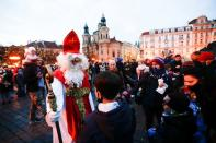Saint Nicholas Day amid the the coronavirus disease (COVID-19) outbreak in Prague