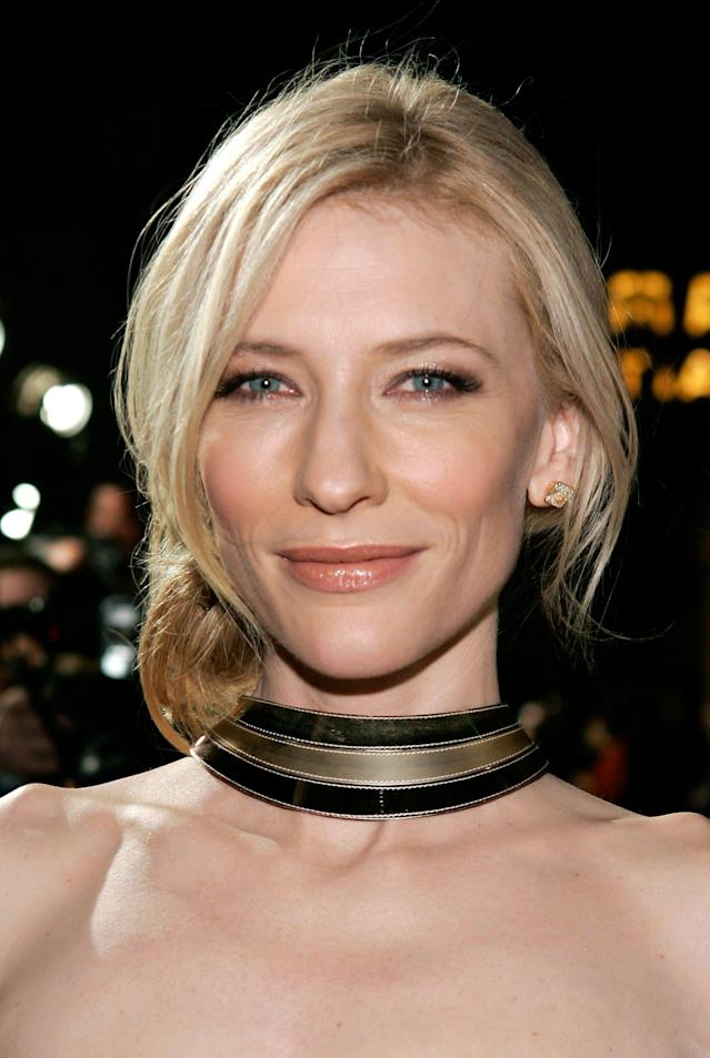 <p>Cate Blanchett arrives at the premiere of Warner Bros. <em>The Good German</em> held at the Egyprian Theatre on Dec. 4, 2006, in Hollywood. (Photo: Vince Bucci/Getty Images) </p>