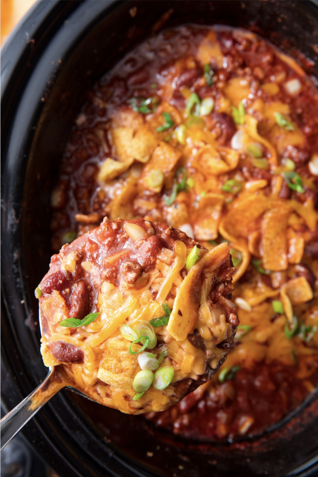 """<p>Serve with Fritos for best results.</p><p>Get the recipe from <a href=""""https://www.delish.com/cooking/recipe-ideas/a21581186/slow-cooker-chili-recipe/"""" target=""""_blank"""">Delish</a>.</p><p><a class=""""body-btn-link"""" href=""""https://www.amazon.com/Crock-Pot-Countdown-Programmable-Stainless-SCCPVC605-S/dp/B005D6FWAY?tag=syn-yahoo-20&ascsubtag=%5Bartid%7C1782.g.804%5Bsrc%7Cyahoo-us"""" target=""""_blank"""">BUY NOW</a><strong><em> Crock-Pot, $48, amazon.com</em></strong><br></p>"""