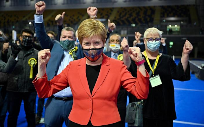 Nicola Sturgeon's party are heading for a big win – but possibly not the majority she hoped for - REUTERS
