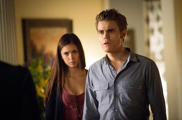 "Nina Dobrev as Elena and Paul Wesley as Stefan in ""The Killer,"" the fifth episode of ""The Vampire Diaries"" Season 4."