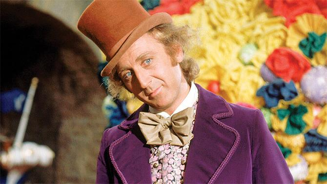 Gene Wilder como Willy Wonka en 1971.
