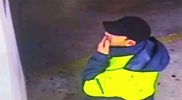 The man police want to talk to was wearing a fluorescent jacket and a black cap. Photo: NSW Police
