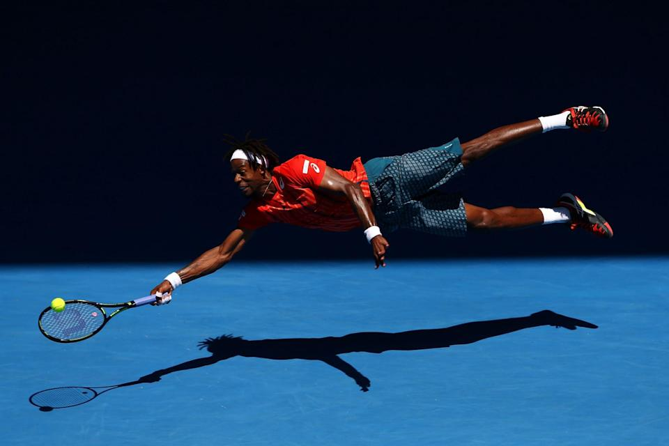 This photo of Gael Monfils at the Australian Open is Cameron Spencer's favorite of the year. (Cameron Spencer/Getty Images)