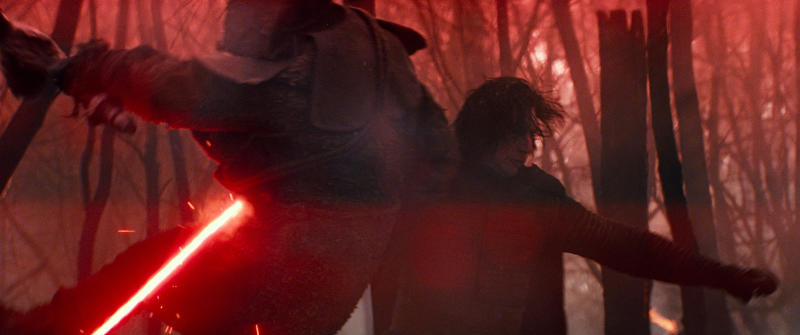 "This image released by Lucasfilm Ltd. shows Adam Driver as Kylo Ren in a scene from ""Star Wars: Episode IX."" (Lucasfilm Ltd. via AP)"