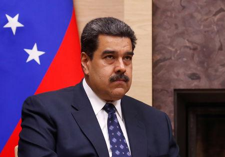 Venezuelan President Maduro attends a meeting with his Russian counterpart Putin outside Moscow