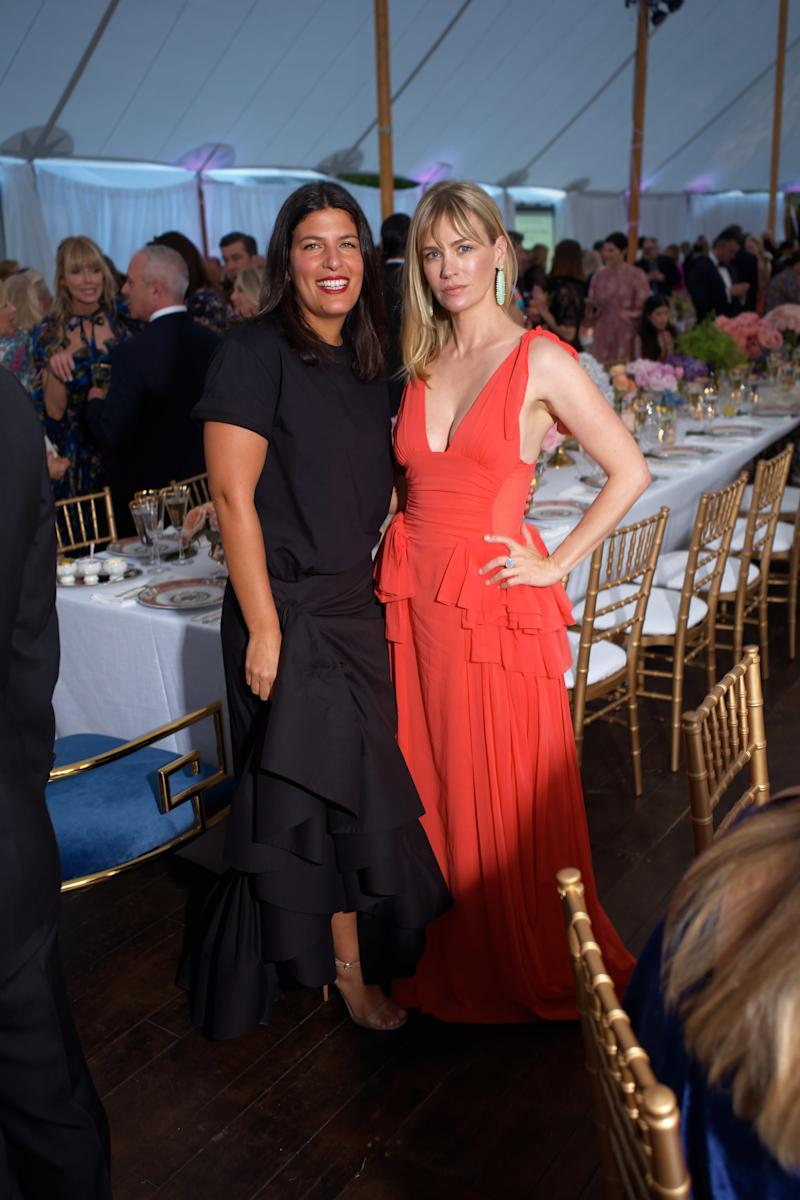 """Rosie Assoulin and January Jones attend the Coveted Couture gala with the Mint Museum and Farfetch and the opening of the new exhibition, """"The Glamour and Romance of Oscar de la Renta."""""""