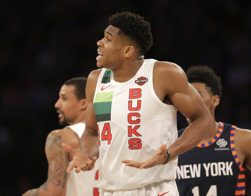 06ab79c45cd2 Giannis Antetokounmpo dominates Knicks in Christmas debut
