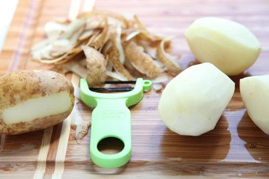 <p>It's important to cut the potatoes into even chunks so that they cook evenly. You don't want to end up with partly mushy and partly hard potatoes when it comes time to mash them.</p>