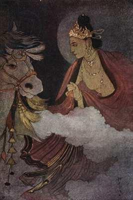 'Prince Siddhartha Leaves Home' by Abanindranath Tagore