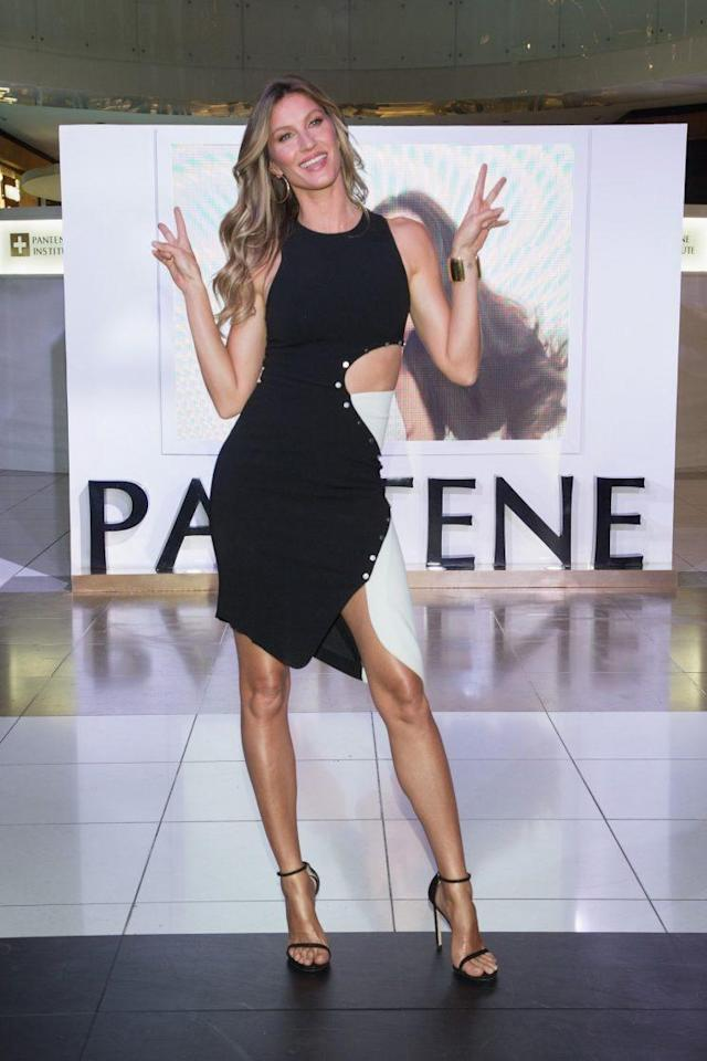 Gisele Bündchen at the Pantene Institute Mexico launch. (Photo: Getty)