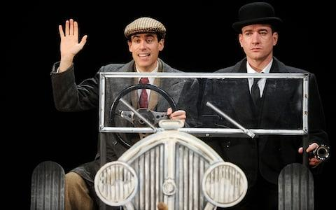 Matthew Macfadyen (right) as Jeeves and Stephen Mangan as Bertie Wooster in the play Perfect Nonsense - Credit: Stuart Wilson/Getty Images