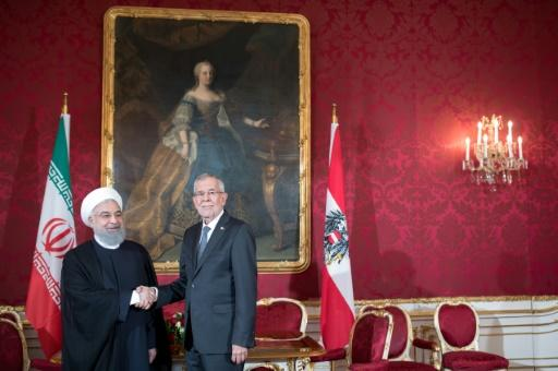 Rouhani, shown here with his Austrian counterpart Alexander Van der Bellen, not changed his programme over the alleged plot