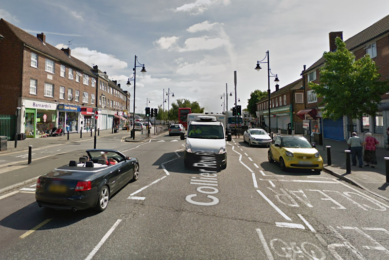 Romford 'acid attack': The victim was found in Collier Row Road: Google
