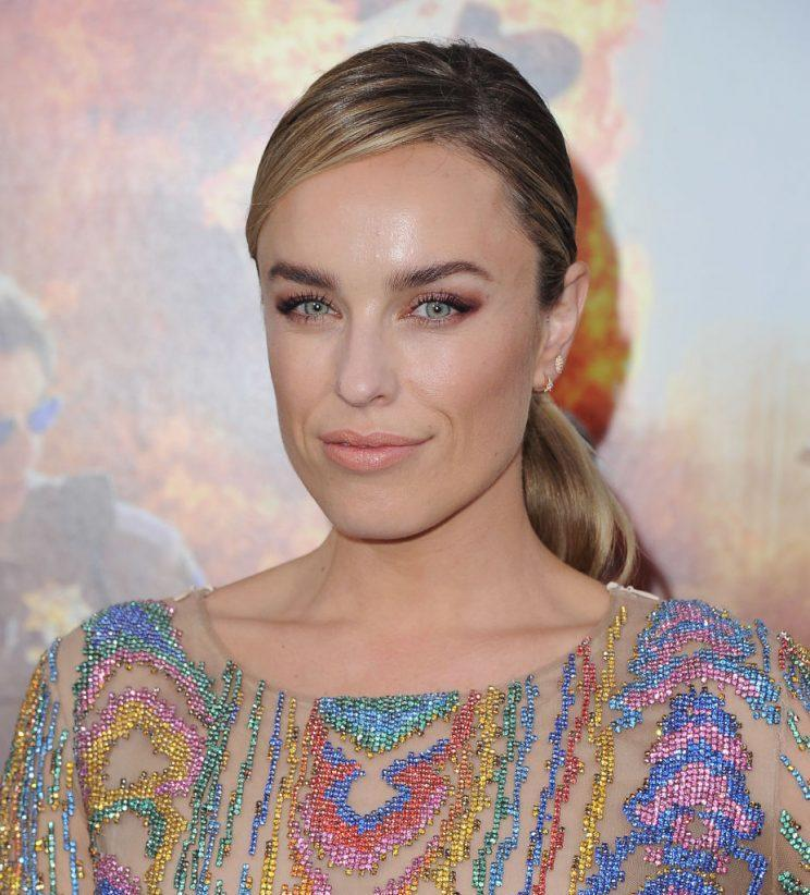 Jessica McNamee in Balmain at the premiere of <em>CHiPS.</em> (Photo: Getty Images)
