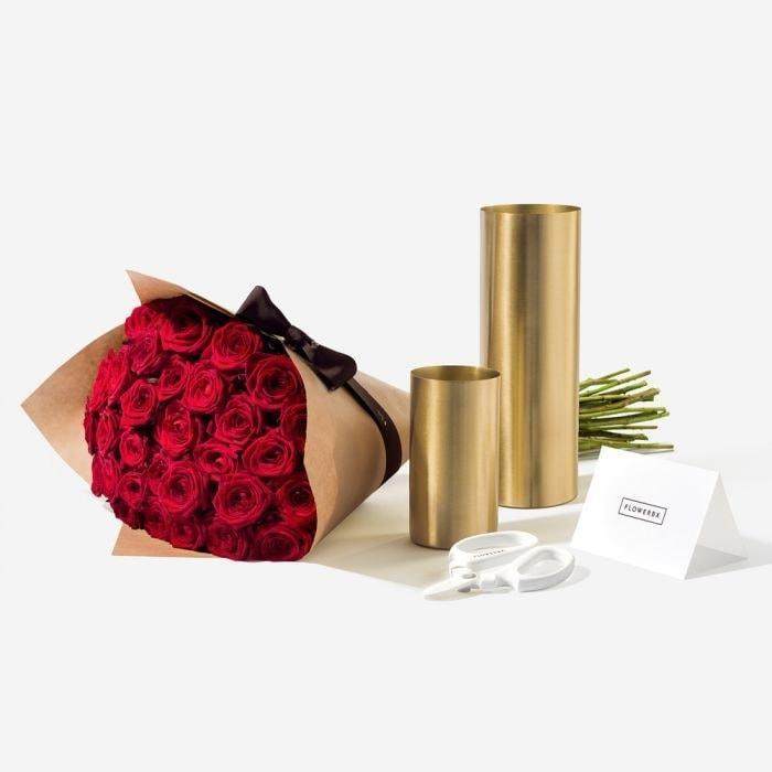 Extraordinary rose gift set (£170, FLOWERBX)