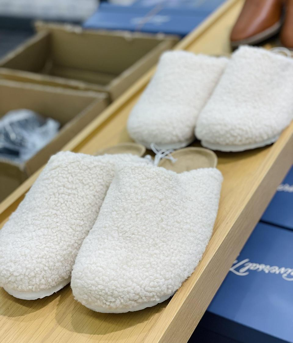 <p>Are they shoes? Are they slippers? I don't care; all I know is that I need these <span>Universal Thread Shearling Slip-Ons</span> ($30) in my life. They're so cozy for chilling at the house or running errands.</p>