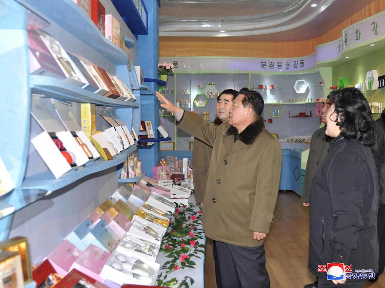 North Korean official Choe Ryong Hae gestures during a visit to the completed cosmetics factory and cooperative farm in Sinuiju, in this photo released by North Korea's Korean Central News Agency (KCNA) in Pyongyang on January 16, 2018.   KCNA/via REUTERS   ATTENTION EDITORS - THIS PICTURE WAS PROVIDED BY A THIRD PARTY. REUTERS IS UNABLE TO INDEPENDENTLY VERIFY THE AUTHENTICITY, CONTENT, LOCATION OR DATE OF THIS IMAGE. NO THIRD PARTY SALES. SOUTH KOREA OUT.