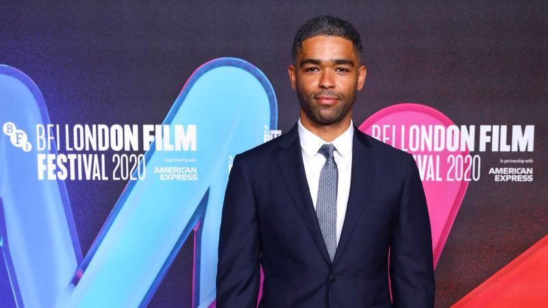 """Kingsley Ben-Adir attends the """"One Night in Miami"""" premiere during the 64th BFI London Film Festival on October 11, 2020 in London, England."""