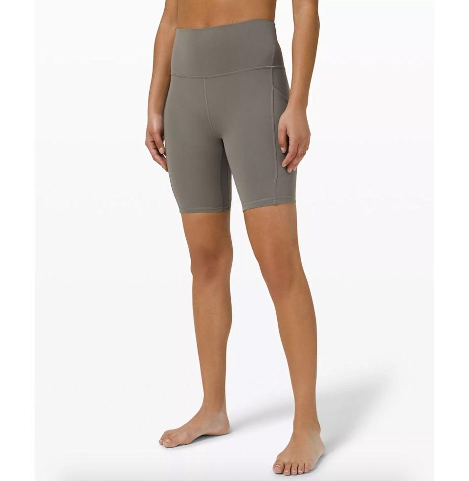 "<p><strong>Lululemon</strong></p><p>lululemon.com</p><p><strong>$68.00</strong></p><p><a href=""https://go.redirectingat.com?id=74968X1596630&url=https%3A%2F%2Fshop.lululemon.com%2Fp%2Fwomen-shorts%2FAlign-Short-8-Pocket%2F_%2Fprod10470026&sref=https%3A%2F%2Fwww.esquire.com%2Flifestyle%2Fg35842602%2Fmothers-day-gifts-for-wife%2F"" rel=""nofollow noopener"" target=""_blank"" data-ylk=""slk:Buy"" class=""link rapid-noclick-resp"">Buy</a></p><p>Not only are bike shorts the biggest trend in fitness gear right now, the pockets mean she doesn't have to pack up a purse before heading out. We repeat: pockets.</p>"