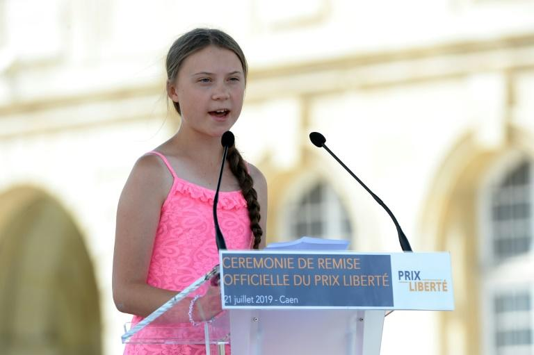 Thunberg was honoured over the weekend with the 2019 'Freedom prize', in Normandy, northern France