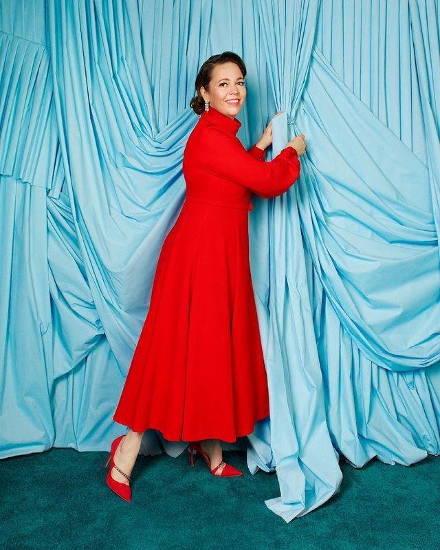 """<p>Up for Best Actress in a Supporting Role for the film <em>The Father</em>, Colman brightened up the ceremony with her elegant <a href=""""https://people.com/style/oscar-2021-hottest-trends-red-carpet/?slide=898030cd-aeef-4bf6-b885-e7479f84f739#898030cd-aeef-4bf6-b885-e7479f84f739"""" rel=""""nofollow noopener"""" target=""""_blank"""" data-ylk=""""slk:Dior Haute Couture gown"""" class=""""link rapid-noclick-resp"""">Dior Haute Couture gown</a>.</p>"""