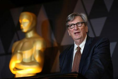 FILE PHOTO - Motion Picture Academy President John Bailey speaks at the Foreign Language Film nominees cocktail reception in Beverly Hills