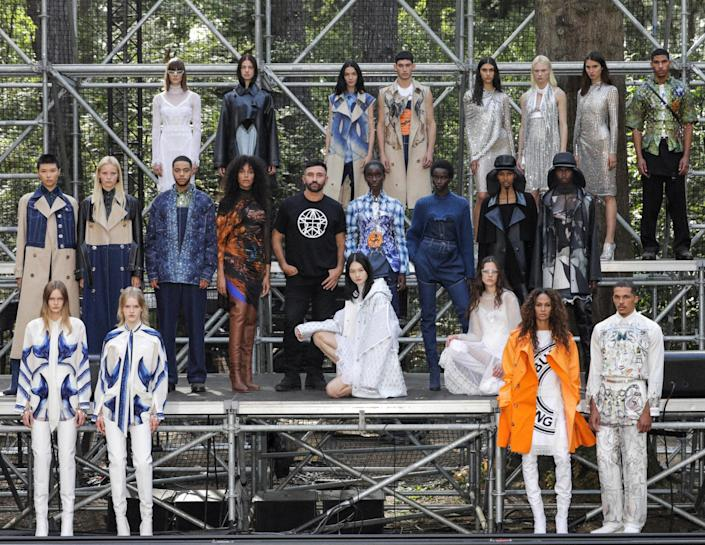 Burberry live streamed its SS2021 collection - Getty