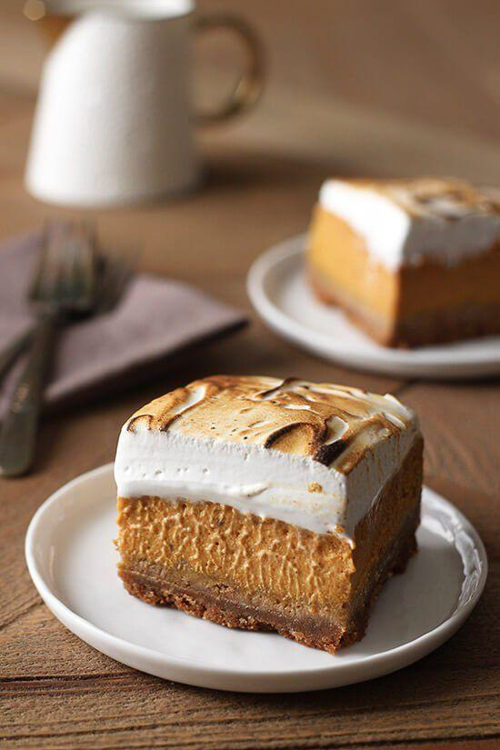 """<p>A sweet potato bar boasting a graham cracker crust and marshmallow topping? We'll take two slices, please!</p><p><strong>Get the recipe at <a href=""""http://www.handletheheat.com/sweet-potato-pie-bars/"""" rel=""""nofollow noopener"""" target=""""_blank"""" data-ylk=""""slk:Handle the Heat"""" class=""""link rapid-noclick-resp"""">Handle the Heat</a>.</strong></p>"""