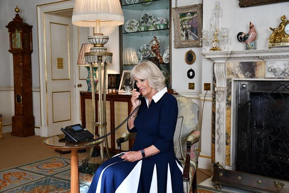 The Duchess Of Cornwall during her telephone storytime (Clarence House/PA)