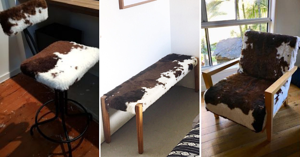 DIYers get inventive with Kmart's faux cowhide rug. Photo: Facebook