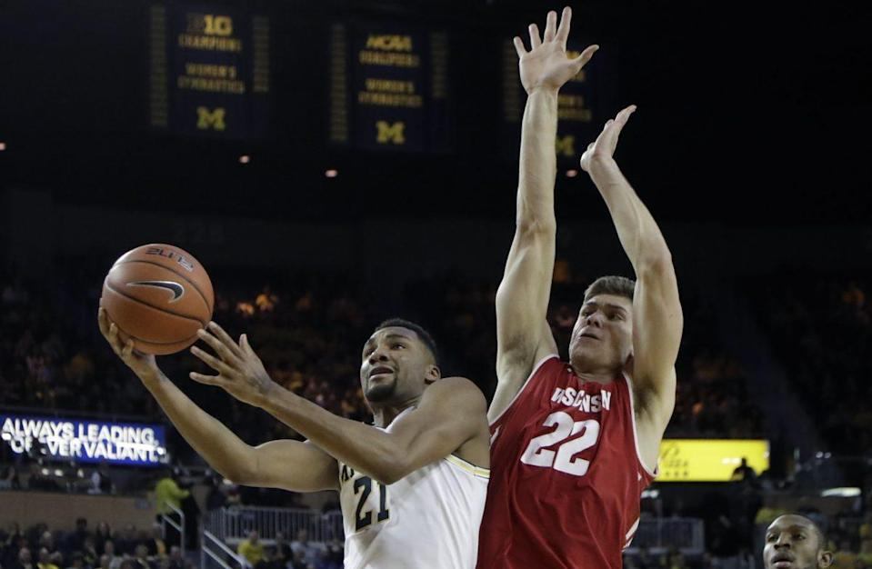 Wisconsin followed a loss to Northwestern by falling at Michigan. (AP)