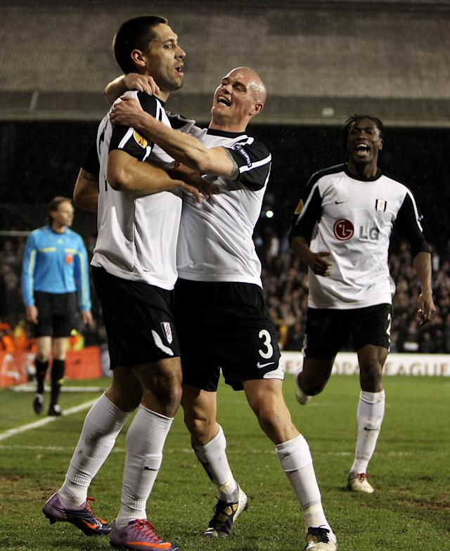 <p>March 18, 2010 Fulham 4 (5) Juventus 1 (4)<br> Roy Hodgson's Fulham were up against it entering the last-16 quarter-final against Juventus. Having been outplayed in Turin, Dickson Etuhu's deflected strike gave them a precious away goal in a 3-1 defeat.<br> Facing a two-goal deficit at Craven Cottage, things went from bad to worse almost instantly as David Trezeguet seized upon some sluggish defending to slot beyond Mark Schwarzer and put Juventus 4-1 up on aggregate after just two minutes.<br> Cue the comeback. Bobby Zamora slammed home on ten minutes, Fabio Cannavaro was sent off shortly after, and Zoltan Gera scored before the break to make the score 3-4 on aggregate.<br> Gera converted a penalty shortly after the break to level the tie, before Clint Dempsey's sublime chip won it for the hosts with eight minutes remaining. Jonathan Zebina was sent off in injury time for lashing out at Damien Duff. </p>