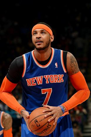 What will Carmelo Anthony's choice be? (Ron Turenne/NBAE/Getty Images)