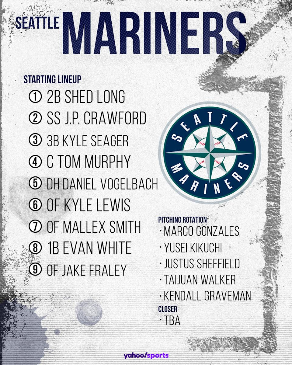 Seattle Mariners projected lineup. (Photo by Paul Rosales/Yahoo Sports)