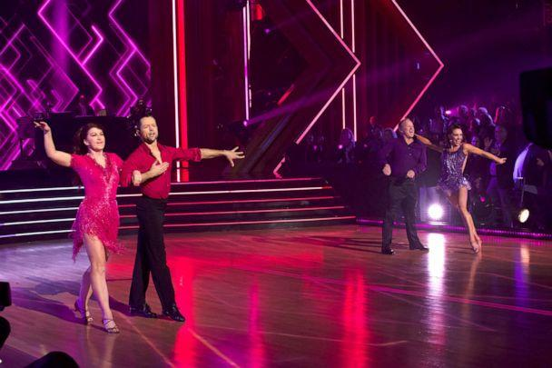 PHOTO: Pasha Pashkov and Kate Flannery compete on 'Dancing With the Stars' on ABC, Nov. 4, 2019. (Kelsey Mcneal/ABC)