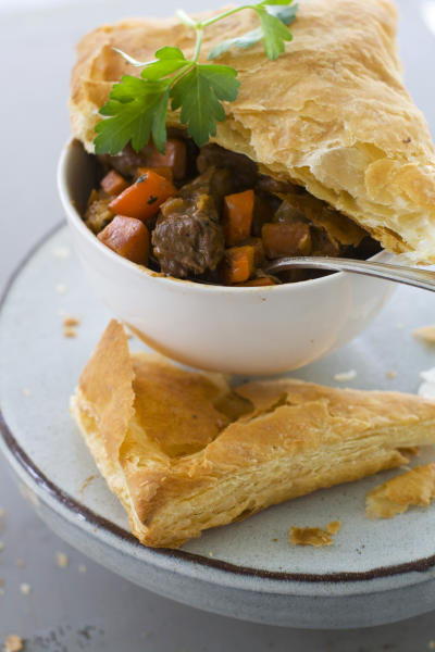 In this image taken on November 12, 2012, Beef Potpie is shown in Concord, N.H. (AP Photo/Matthew Mead)