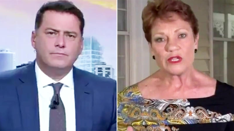 Pauline Hanson, pictured here with Karl Stefanovic during an interview with the Today Show.