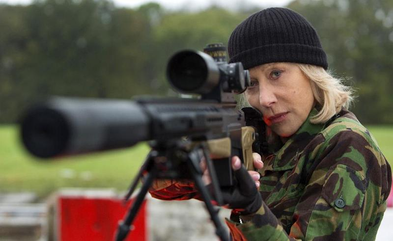 """This film publicity image released by Summit Entertainment shows Helen Mirren in a scene from """"Red 2."""" The film will be released nationwide on Friday, July 19. (AP Photo/Summit Entertainment, Frank Masi)"""