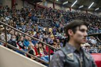 The rodeo in San Angelo, Texas draws 5,000 spectators per night over three weekends