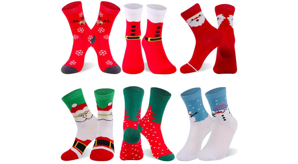 RTZAT Unisex Christmas Novelty Socks (Photo: Amazon)